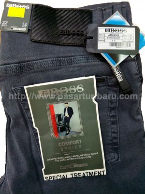 Celana Jeans Panjang ZG Boss Warna Dark Silver Stretch